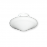 FL-113 White Glass with F4S Light Fitter - Pure White Fitter Shown