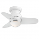 "Minka Aire Spacesaver F510L-BS - LED - 26"" Ceiling Fan Brushed Steel"