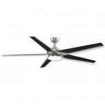 """72"""" Fanimation Subtle Brushed Nickel Finish with Bourbon Blade and Opal Frosted Glass"""