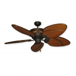 "Gulf Coast Moroccan 52"" Rattan Ceiling Fan - Oil Rubbed Bronze"