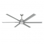 """72"""" TroposAir Titan II - Brushed Nickel - Shown with LED Light (sold separately)"""