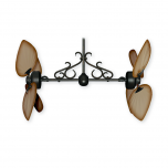 Twin Star III Outdoor Ceiling Fan Oil Rubbed Bronze - Tan Blades (downrod scroll sold separately)