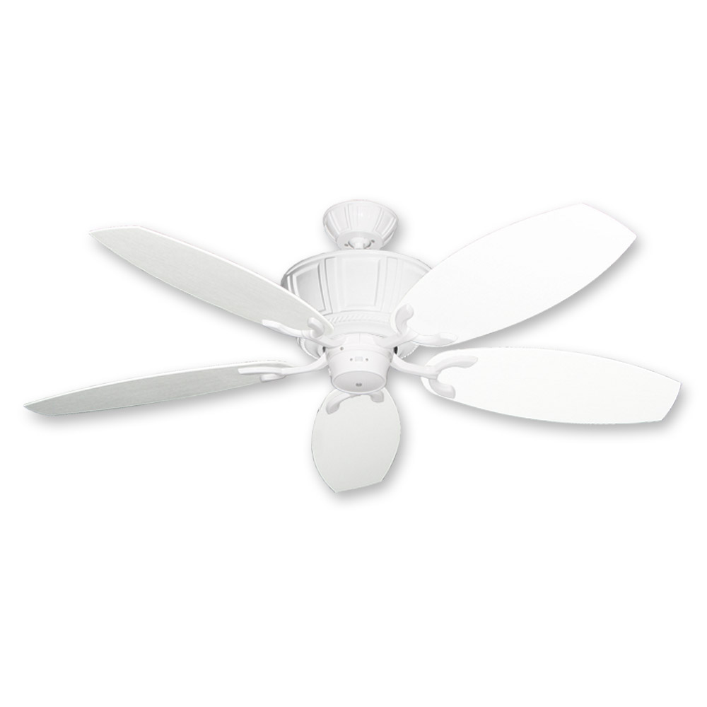 Gulf Coast Centurion 52 Outdoor Wet Rated Ceiling Fan Pure White