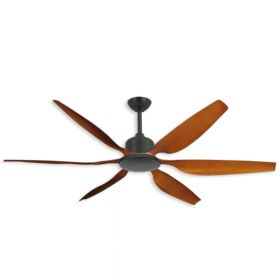 "TroposAir Titan II - 66"" Indoor/Outdoor Ceiling Fan-Oil Rubbed Bronze - with Natural Cherry Blades"