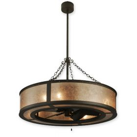 "45""W Meyda Smythe Craftsman Oil Rubbed Bronze Finish with Oil Rubbed Bronze Blades and Light Kit"