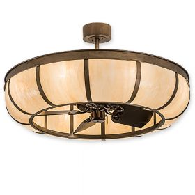 """44""""W Meyda Prime Dome Antique Copper Finish with Antique Copper Blades and Light Kit"""