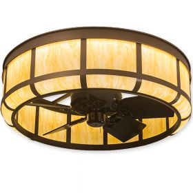 "Meyda Prime Lanesboro - 196335 - 36"" Wide Outdoor Chandel-Air Fan - Mahogany Bronze"
