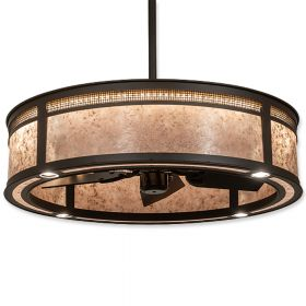 "36"" Wide Meyda Maglia Semplice Oil Rubbed Bronze Finish with Oil Rubbed Bronze Blades and Light Kit"