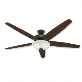 "70"" Hunter Stockbridge New Bronze Finish with Walnut / Medium Oak Reversible Blades and Light Kit"