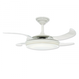 """48"""" Hunter Fanaway White Finish with Clear Blades and Light Kit"""