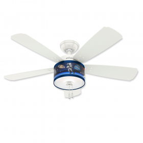 """48"""" Hunter Jesse Fresh White Finish with Fresh White / Belle Aire Blue Reversible Blades and Light Kit"""