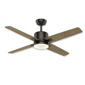 "52"" Casablanca Axial Noble Bronze Finish with River Timber and Light Kit"