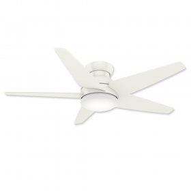 "Casablanca Isotope 59354 52"" LED Low Profile Ceiling Fan Fresh White and Light Kit"