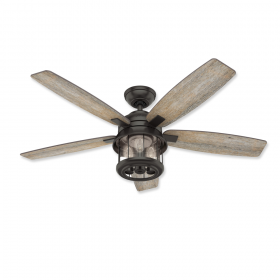 "Hunter Coral Bay 52"" LED Outdoor Ceiling Fan Noble Bronze"