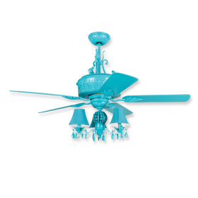 "54"" Craftmade Antoinette Turquoise Finish with Turquoise Blades"