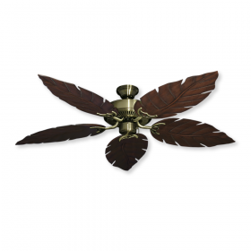 Bermuda Island Breeze Ceiling Fan - Antique Brass / Oil Rubbed Bronze Blades