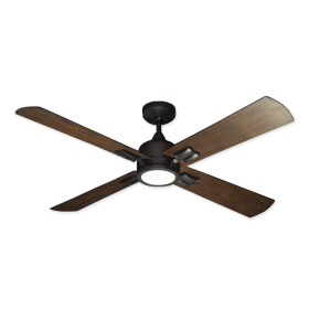 "52"" Captiva Ceiling Fan - Oil Rubbed Bronze - Distressed Walnut Blades"