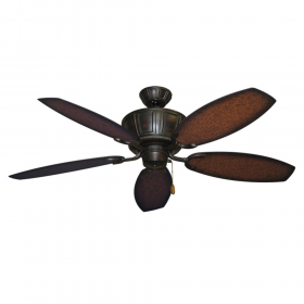 "52"" Centurion Ceiling Fan - Oil Rubbed Bronze w/ Aged Mahogany ABS Blades"
