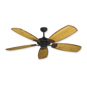 "52"" Coastal Air Bamboo Ceiling Fan by Gulf-Coast - Oil Rubbed Bronze"