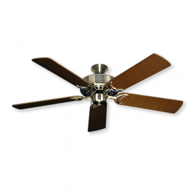 "52"" Dixie Belle Ceiling Fan - Antique Brass with Natural Cherry Blades"