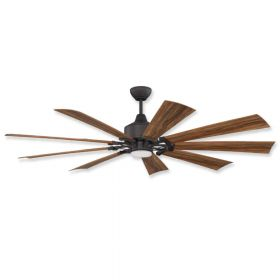 "70"" Craftmade Eastwood Espresso Finish with Mesquite Blades and Light Kit"