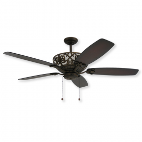 "60"" TroposAir Excalibur Ceiling Fan - Oil Rubbed Bronze with Dark Walnut Blades"