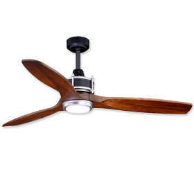 "Vaxcel Curtiss 52"" LED Outdoor Ceiling Fan Matte Black and Brushed Silver"