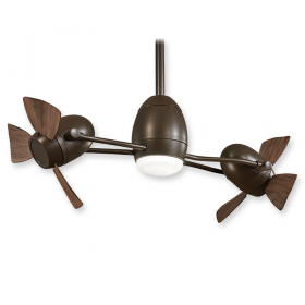 "Minka Aire Cage Free Gyro F304L-BN/SL - LED - 37"" Ceiling Fan Oil Rubbed Bronze"