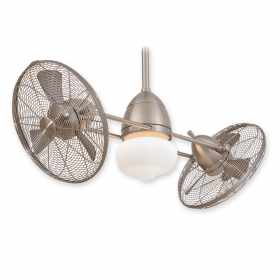 "Minka Aire Gyro Wet F402-BNW - LED - 42"" Ceiling Fan Brushed Nickel Wet"