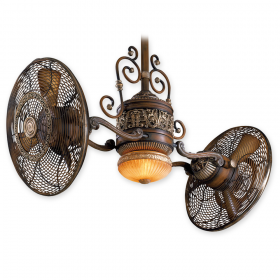 "Minka Aire Traditional Gyro F502-BCW - LED - 42"" Dual Motor Ceiling Fan Belcaro Walnut"