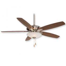 "Minka Aire Mojo F522-BN - LED - 52"" Ceiling Fan Brushed Nickel"