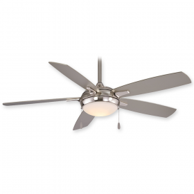"Minka Aire Lun-Aire F534L-BN - LED - 54"" Ceiling Fan Brushed Nickel"