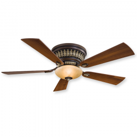 "Minka Aire Calais F544-BCW - 52"" Flush Mount Ceiling Fan Belcaro Walnut"