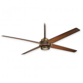 Minka Aire Spectre F726-ORB/AB - Oil Rubbed Bronze/Antique Brass with Tobacco Blades