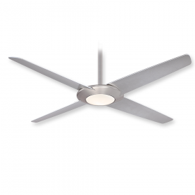 "Minka Aire Pancake XL F739L-BN - LED - 62"" Ceiling Fan Brushed Nickel"