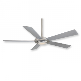"Minka Aire Sabot F745-BN - LED - 52"" Ceiling Fan Brushed Nickel"
