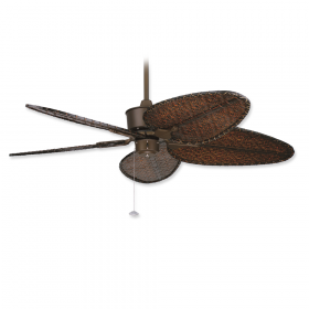 "Fanimation Islander Oil-Rubbed Bronze with 56"" Antique Narrow Oval Blades"