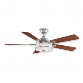 """52"""" Fanimation Stafford Brushed Nickel Finish with Cherry Blades"""