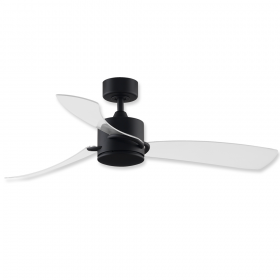 """52"""" Fanimation Sculptaire Black Finish with Clear Blade and Cap"""