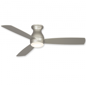 Brushed Nickel Finish with Brushed Nickel blades and Steel Cap