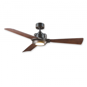 "56"" Modern Forms Osprey Oil Rubbed Bronze Finish with Dark Walnut Blades and Light Kit"