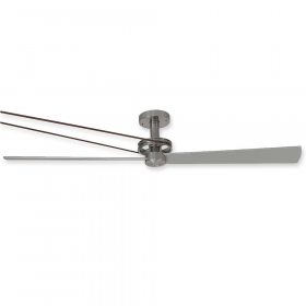 "56"" Fanimation Kellan Belt Driven Brushed Nickel Head Finish with Brushed Nickel Blades"