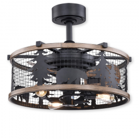 Vaxcel F0068 - Kodiak - Rustic Drum Style Ceiling Fan