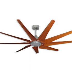 "TroposAir Liberator - 72"" WiFi-Enabled-Indoor/Outdoor Ceiling Fan Brushed Nickel - Natural Cherry Blades"