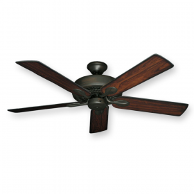 "52"" Meridian Ceiling Fan - Oil Rubbed Bronze - Burnt Cherry Blades"