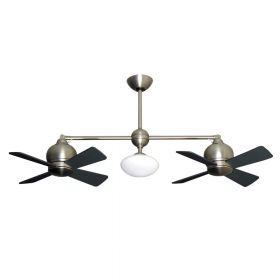"Gulf-Coast Metropolitan Dual Ceiling Fan - 2 x 24"" Fans - Up to 61"" Length"