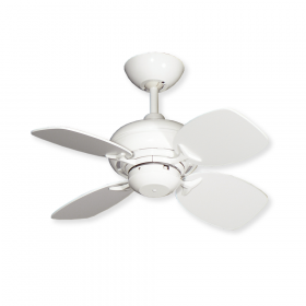"Gulf Coast Mini Breeze 26"" Ceiling Fan - Pure White / Pure White Blades"