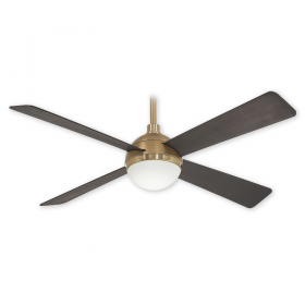 Minka Aire Orb Ceiling Fan - F623-BBR/SBR - Brushed and Soft Brass
