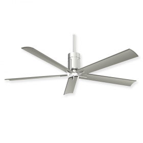 Minka Aire F684L-PN - Polished Nickel - Silver Blades