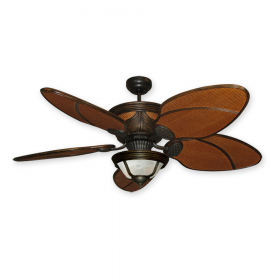 "Gulf Coast Moroccan 52"" Rattan Ceiling Fan with Light - Oil Rubbed Bronze"